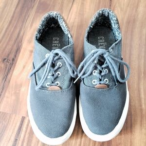Crevo Gray Mens Lace Up Shoes